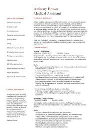 Medical Assistant Resume Skills Samples Template Examples CV Cover