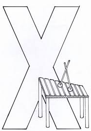 Letter X For Xylophone Alphabet Coloring Pages