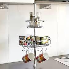 bremermann küchen teleskopregal inkl 2 körben und 6 haken 6411