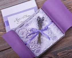 Custom Listing 100 Lace And Lavender Wedding Invitation Vintage Invitations Rustic Box