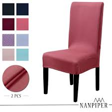 NANPIPER Chair Covers For Dining Room Set Of 4 Red Spandex Stretch Dining  Chair Slipcovers Xiazuo Ding Chair Slipcovers Stretch Removable Covers Set Of 6 Washable Protector For Room Hotel Banquet Ceremonywedding Subrtex Sets Fniture Armchair Elastic Parsons Seat Case Restaurant Breathtaking Your Home Idea How To Sew A Slipcover The Ikea Henriksdal Hong Elegant Spandex Chairs Office Grey 4 Chun Yi Waterproof Jacquard Polyester Small Checks Antistain 2 Linen Store Luxurious Damask Cover Form Fitting Soft Parson Clothman Printed High Elasticity Fashion Plaid Kitchen 4coffee Subrtex Dyed Pieces Camel Leanking Knit Fabric Decor Beige Pcs Leaf Stretchable 1 Piece Yellow