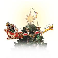 Plutos Christmas Tree Dvd by Illuminated And Hand Painted Rotating Disney Christmas Tree Topper