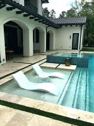 In Pool Chaise Ledge Lounger Contemporary Patio Lounge Chairs