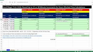 Ceiling Function Excel Vba by Excel Magic Trick 1416 Round Up To 15 Or 30 Minute Increments For