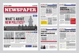 Newspaper Design Template Vector Modern Layout