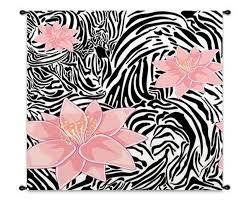 Zebra Print Bathroom Decor by Contemporary Bathroom Design With Light Pink Brick Wall Idea And