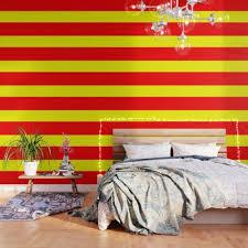 spanien flagge tapete rot zimmer gelb wand schlafzimmer