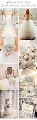 Glittery And Silver White Winter Wonderland Wedding Ideas