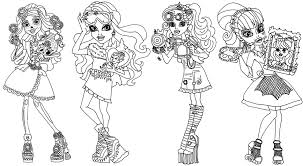Free Printable Monster High Art Class Coloring Page