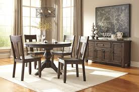Mestler Side Chair By Ashley by Ashley Furniture Round Dining Room Sets Rustic Brown Porter Table