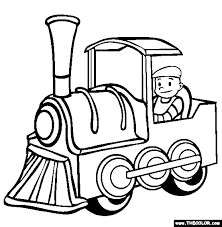 Train Ride Coloring Page