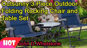 Outsunny 3 Piece Outdoor Folding Rocking Chair And Table Set - Blue And Grey Gci Outdoor Freestyle Rocker Portable Folding Rocking Chair Smooth Glide Lweight Padded For Indoor And Support 300lbs Lacarno Patio Festival Beige Metal Schaffer With Cushion Us 2717 5 Offrocking Recliner For Elderly People Japanese Style Armrest Modern Lounge Chairin Outsunny Table Seating Set Cream White In Stansport Team Realtree 178647 Wooden Gci Ozark Trail Zero Gravity Porch