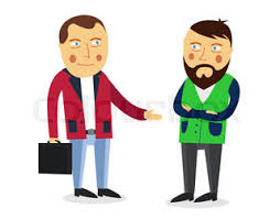 Businessman greeting partner vector concept Business meeting Colleagues say goodbye or Hello Handshake