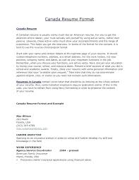 Resume Samples For Jobs In Canada With Template Perfect Format Sample Cover Letter