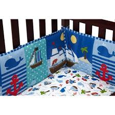 little bedding by nojo baby buccaneer crib bumper walmart com