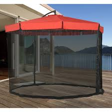 Mosquito Netting For Patio Umbrella Black by Patio Umbrellas U2013 Clever And Modern