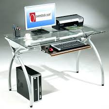 Metal puter Desk With Glass Top Steel Glass Wall Top Frame Desk