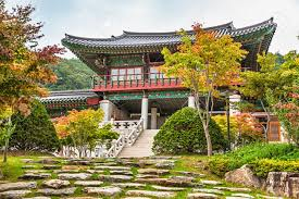 104 South Korean Architecture Traditional Old Building Or Monks Temple In Korea At Autumn Stock Photo Picture And Royalty Free Image Image 36848904