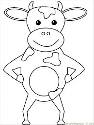 Coloring Pages Cow4 Mammals Cow