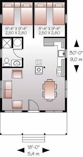 small country floor plan 2 bedrms 1 baths 540 sq ft plan 126 1023