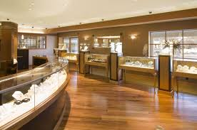 Cool Modern Jewellery Shop Design Decoration By Patio View Or Other Jewelry With Brown Interior Ideas Using Elegant Parquet Flooring And