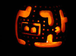 Pac Man Pumpkin Stencil by 8 Bit Pumpkin Carvings 8 Bitters