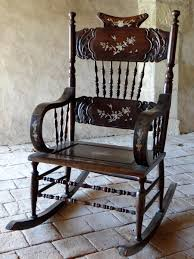 Vietnam, Early 20th Century, Rare Inlaid Wood Rocking Chair ...