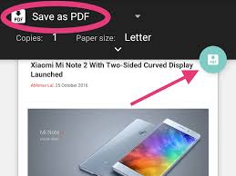 How to Print to PDF on Android