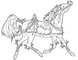 Adult Coloring Page Carousel Horse