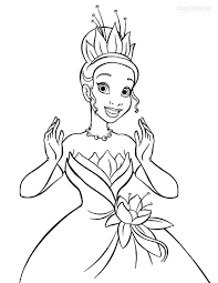 Princess Tiana Coloring Pages Printable For Kids Cool2bkids Online