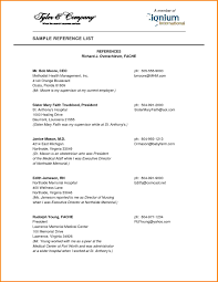 100 Resume Reference Page 9 Resume Reference Page Example Happytots