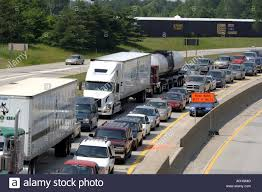 100 Work Trucks Usa Lines Of Semi And Cars On A Canadian Highway Going To