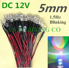 rgb led pre wired 12v rgb color changing led 5mm