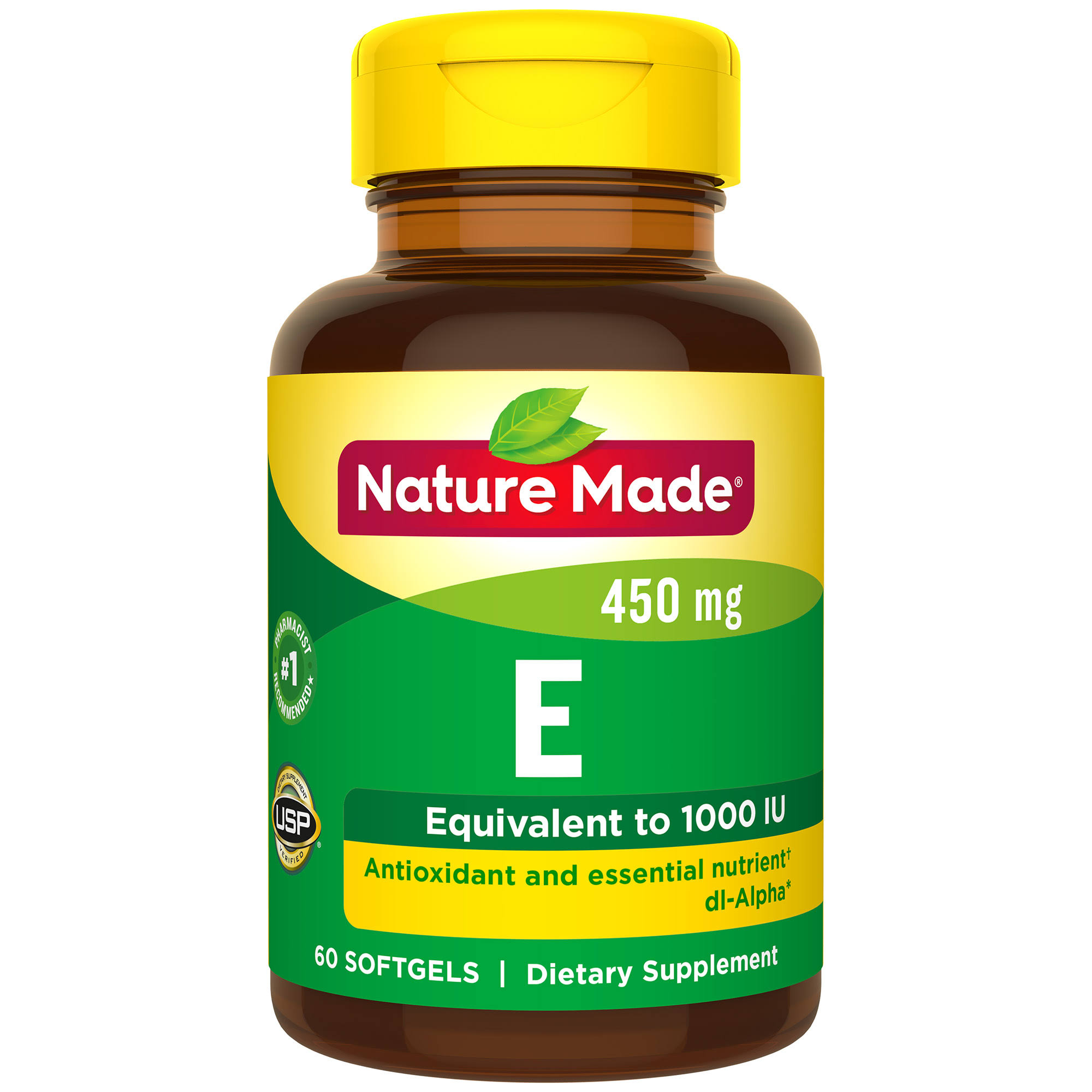Nature Made Vitamin E 1000iu Dietary Supplement - 60 Softgels