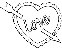 Heart Coloring Pages Valentines Hearts Pertaining To Day