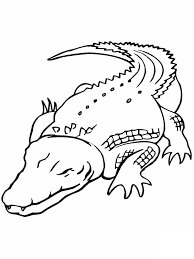 Printable Crocodile Coloring Pages
