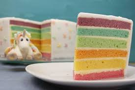 regenbogentorte backen regenbogenkuchen rezept mit fondant