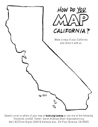 Map California Template
