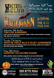 Childrens Halloween Books Online by Halloween Holiday Club For Little Horrors Sutton College