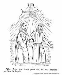 John The Baptist Coloring Pages P2 Baptism Of Jesus