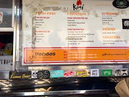 100 Kogi Truck Menu Junk Food Jones BBQ