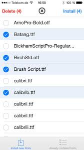 Install new fonts on iPhone or iPad without JAILBREAK