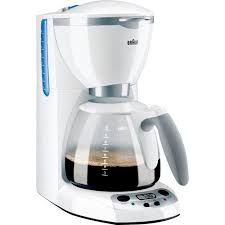 Braun AromaDeluxe 10 Cup Programmable Coffee Maker White