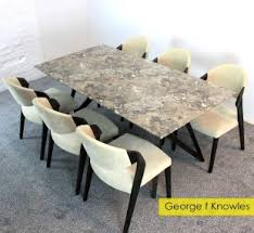 Alfrank Geo Marble Dining Table Set With 6 Chairs