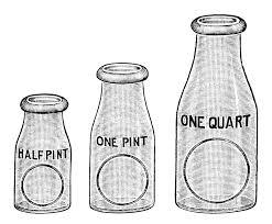 flint glass milk bottle image vintage dairy clipart black and white milk clip art