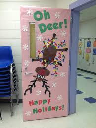 Christmas Classroom Door Decorating Contest by Going Back To This Idea With Team Mate Her Door The Reindeer Will