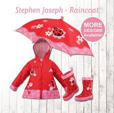 ladybug raincoat personalized kids ladybug rain gear