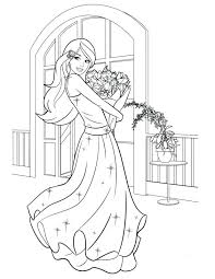 Barbie Coloring Pages Christmas Free Online Fairy Printable More Carol