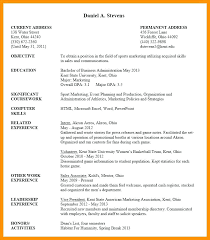 Resume Samples College Students No Experience Examples For Internships Applying Undergraduate Student Sample