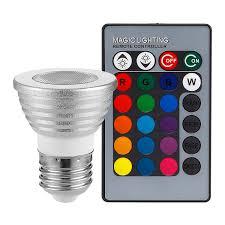 3w multi color e26 led bulbs dimmable rgb spotlight bulb with